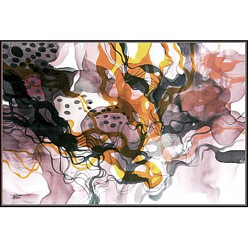 happiness on fire an original painting on silk by john martono