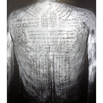 tattooed back an original painting by ping kongklom