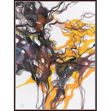 light of my life an original painting on silk by john martono