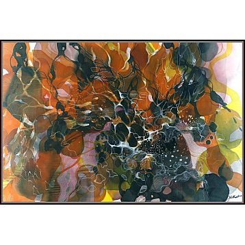 dreamer an original painting on silk by john martono