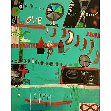love 4 life an original painting by angie goto