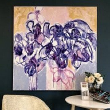 from white flowers an original painting by beverley tainton