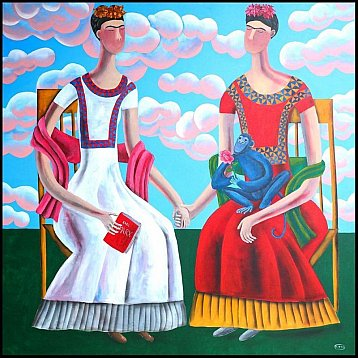 the two fridas an original painting by kitti narod