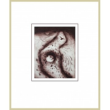 cloud burst  a framed limited edition etching by jeff gardner