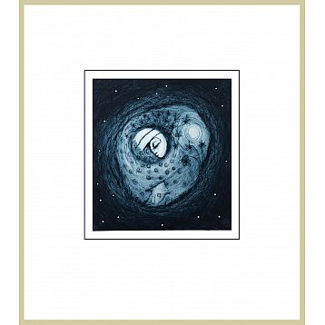 this fragment of space  a framed limited edition etching by jeff gardner