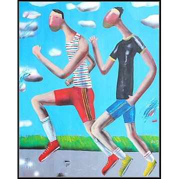 the race an original painting by kitti narod