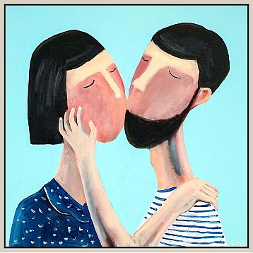 the embrace an original painting by kitti narod