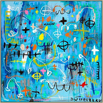 bitch be blue an original painting by nadia dsselberg