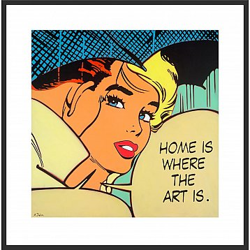 home is where the art is a limited edition print by alan delon