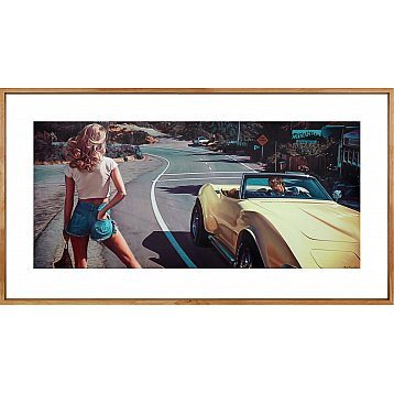 the hitchhiker a limited edition print by steve rosendale