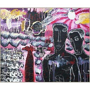 the boys on the beach original artwork by kitti narod
