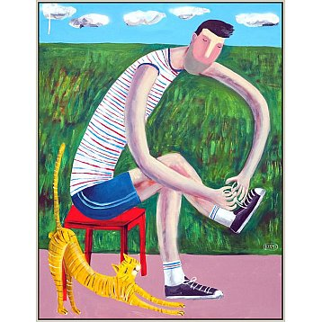 the runner and his cat