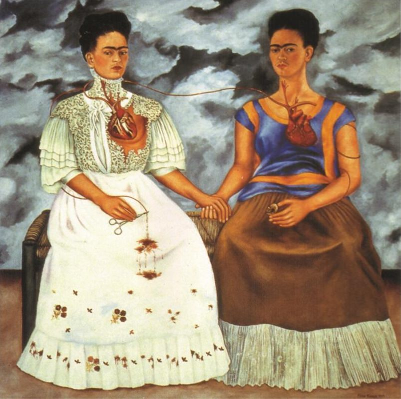 """""""The Two Fridas"""" an original painting by Kitti Narod Gallery"""