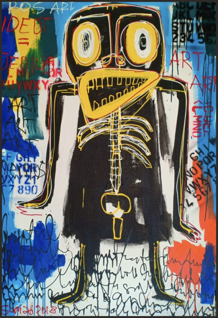 Balinese Art inspired by Basquiat. Artist name Somad