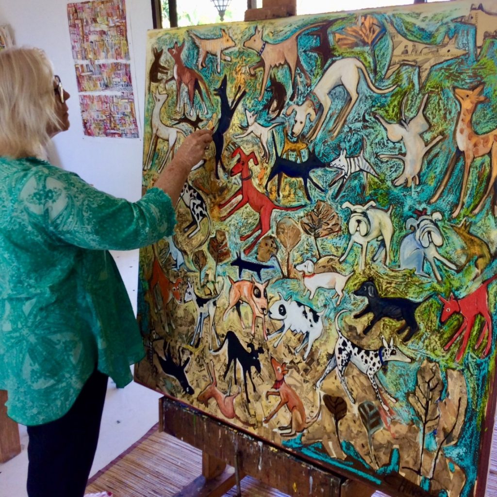 Christine Hingston in her art studio
