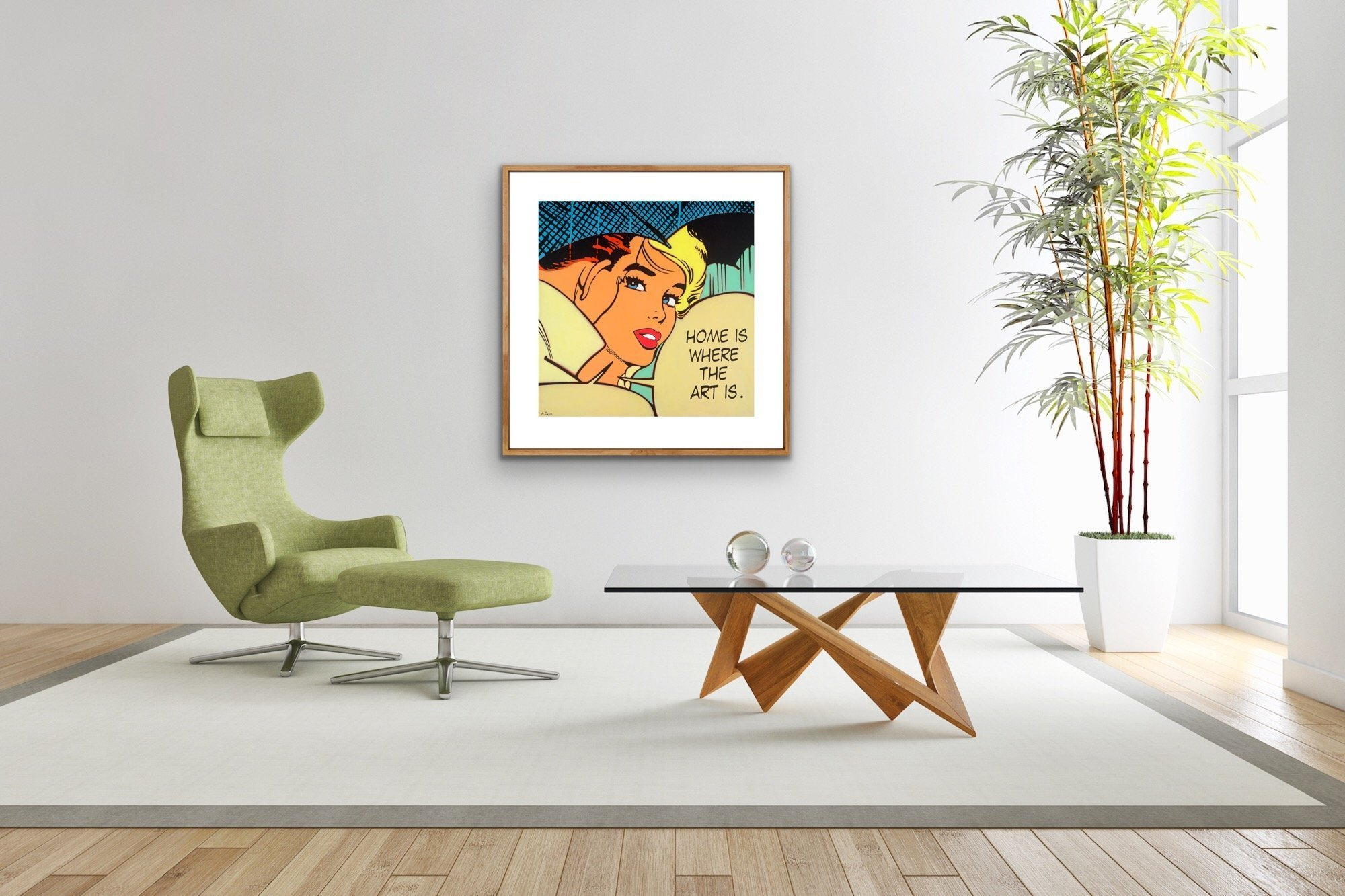 """""""Home Is Where The Art Is"""" a Limited Edition print by Alan Delon Gallery"""