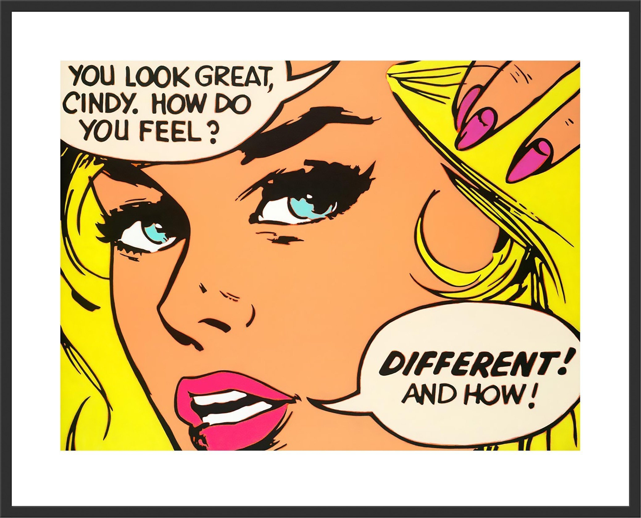 """""""Cindy"""" a Signed Limited Edition Print by a Alan Delon Gallery"""