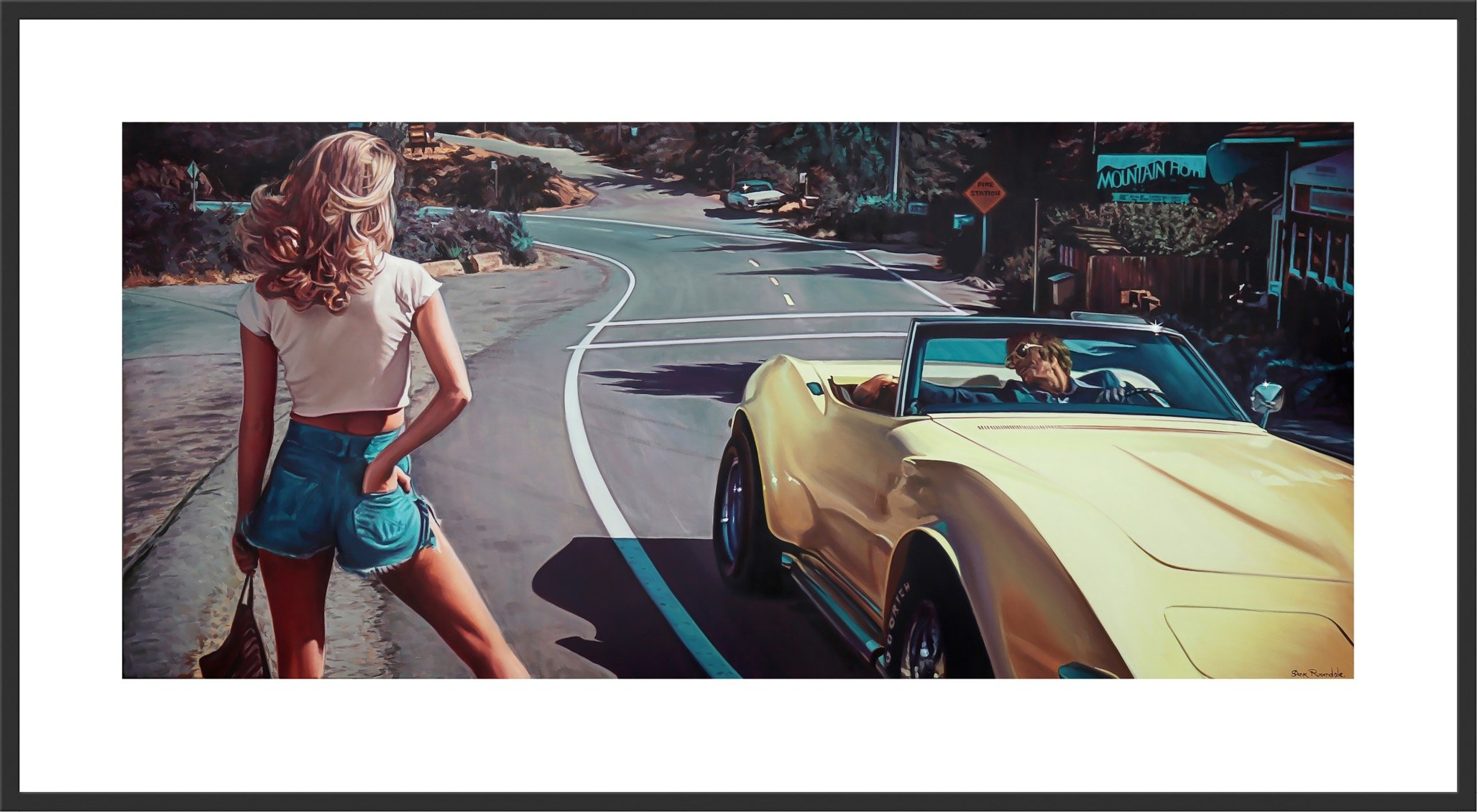 """The Hitchhiker"" A Limited Edition Print by Steve Rosendale Gallery"