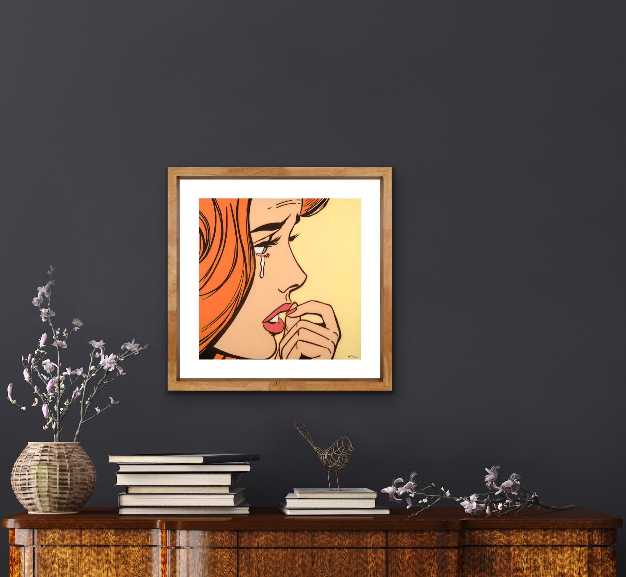 """Pensive"" an Open Edition print by Alan Delon Gallery"